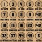Retired Yankees Pinstripe Designs Vinyl Sticker Decal Mantle, DiMaggio, Ruth (17 Sticker Sheet)