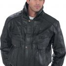 LRG Men's Giovanni Navarre Leather Coat w/Hood and Lining