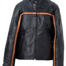 M Ladies' Black Leather Jacket