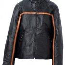 M Ladies' Black Leather Jacket