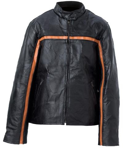 S Ladies' Black Leather Jacket