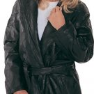 XL Ladies 3/4 Length Leather Coat