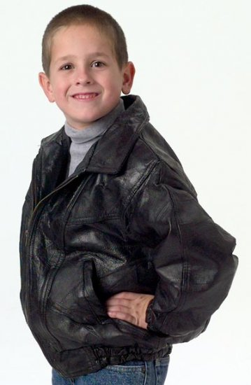 Child's Leather Jacket, Size 6-7