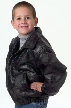 Child's Leather Jacket, Size 14