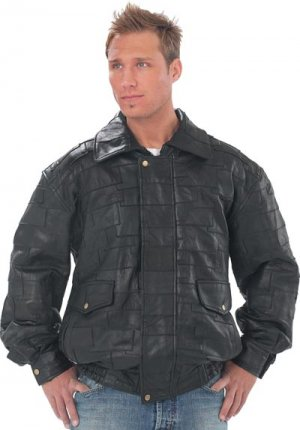 "XXL Men's Lambskin ""Bomber"" Jacket"
