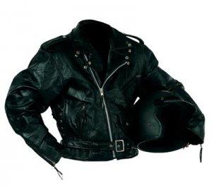 XXL Men's Rock Design Leather Motorcycle Jacket