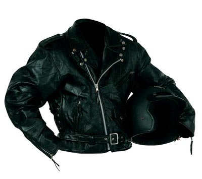 XL Men's Rock Design Leather Motorcycle Jacket