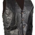 XL Men's Cowhide Leather Biker Vest