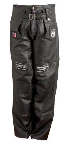 XL Cowhide Motorcicle Chaps