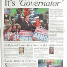 Arnold Schwarzenegger HOLLYWOOD Newspaper GOVERNATOR Very Rare FREE SHIPPING