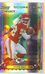2006 Score Select Dante Hall Scorecard 90/100 Chiefs Rams