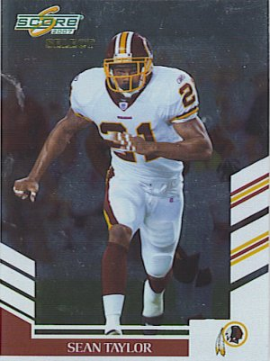 2007 Score Select Sean Taylor Redskins