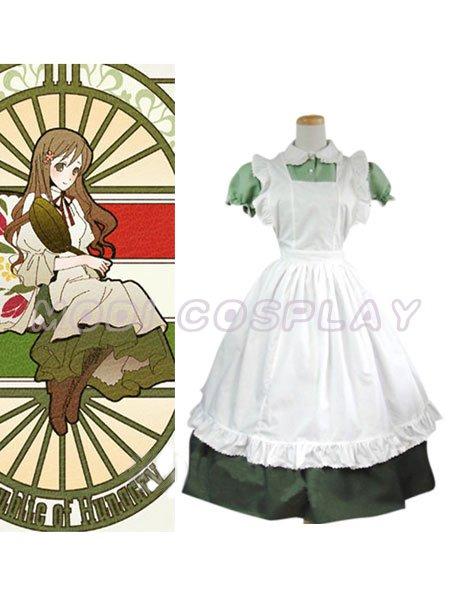 Axis Powers Hetalia Maid Hungary Cosplay Costume