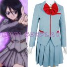 Bleach Kuchiki Rukia School Uniform Cosplay Costume, all size