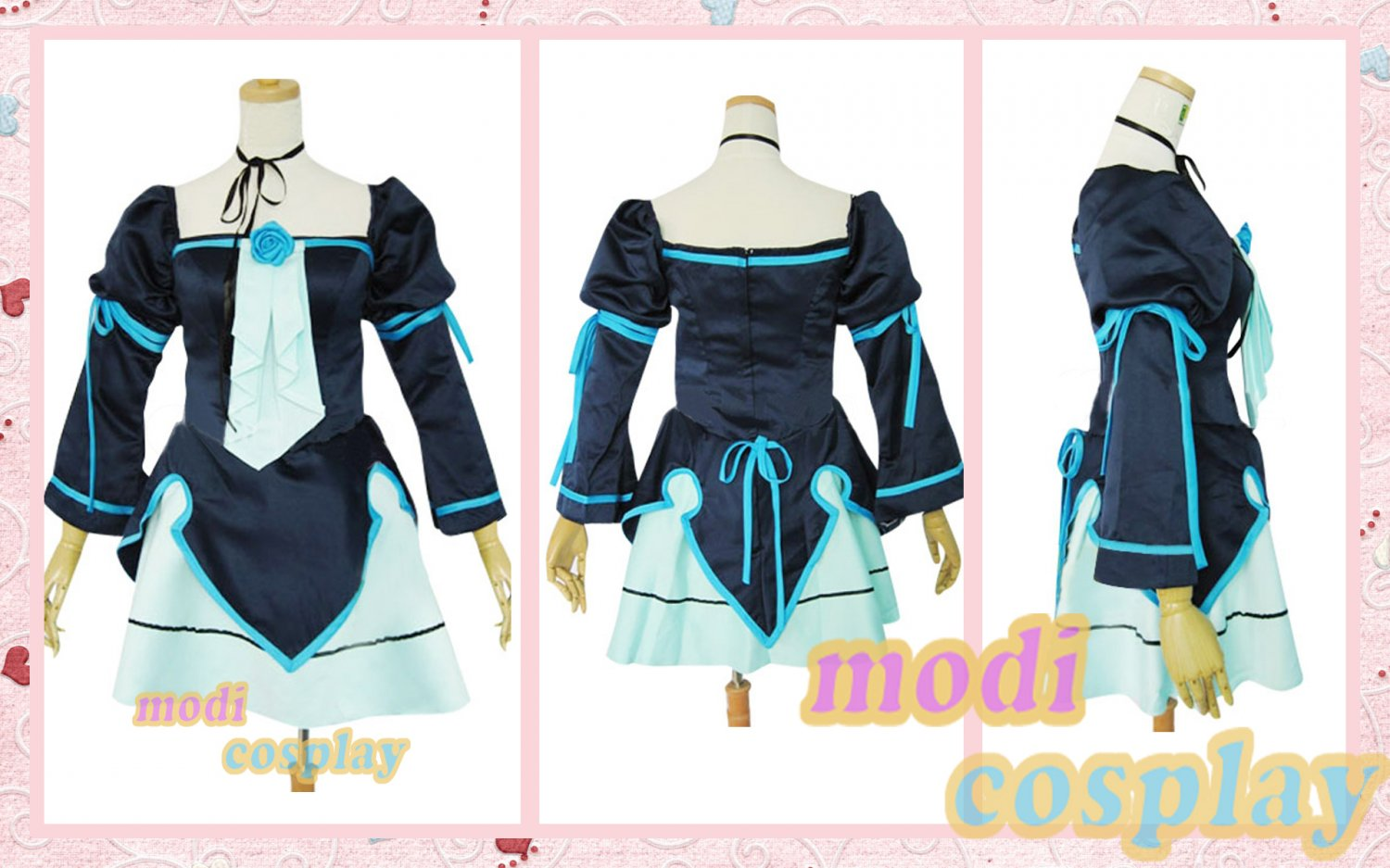 Vocaloid Miku Doujin Lolita Cosplay Costume,all size