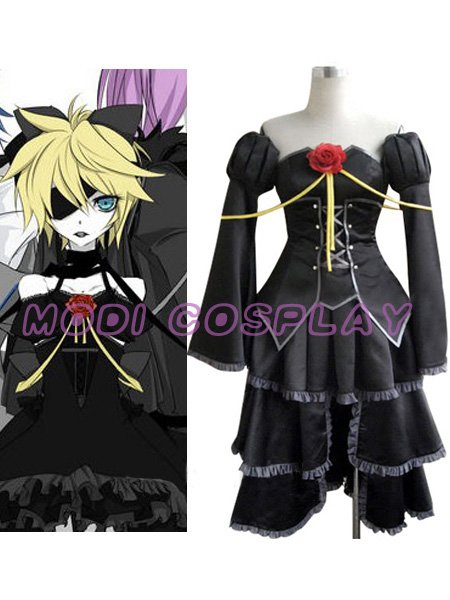 Vocaloid Len Kagamine Black Cosplay Costume,all size