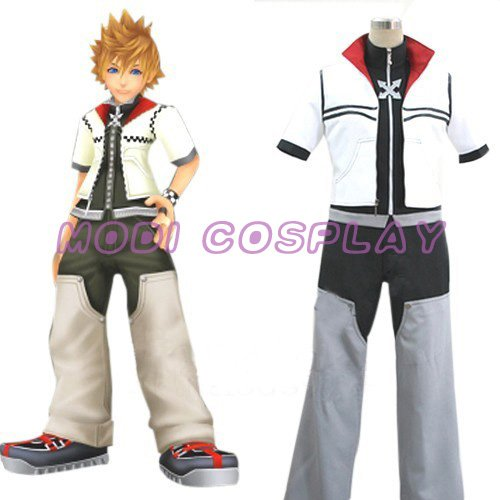 Kingdom Hearts Roxas Anime Cosplay Costume