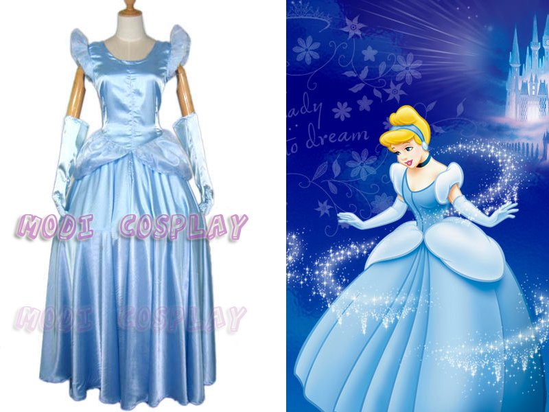 disney Anime cinderella princess cosplay costume