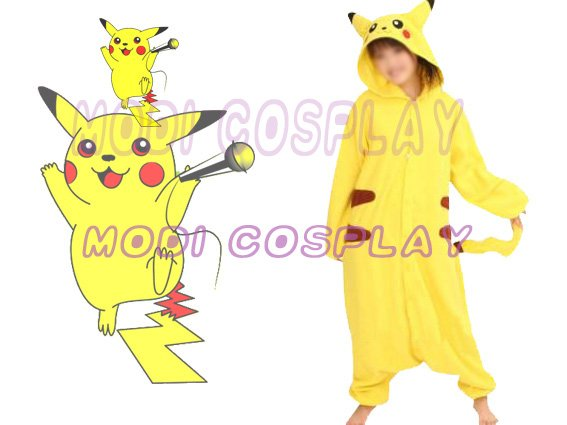 Pokemon Pikachu Anime Cosplay Costume,In Stock