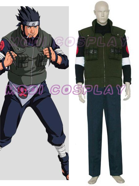 Naruto Asuma Sarutobi Anime Cosplay,all size