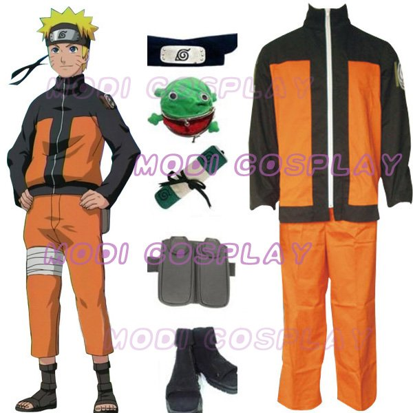 Naruto Shippuden Uzumaki Men`s Cosplay Costume,all size
