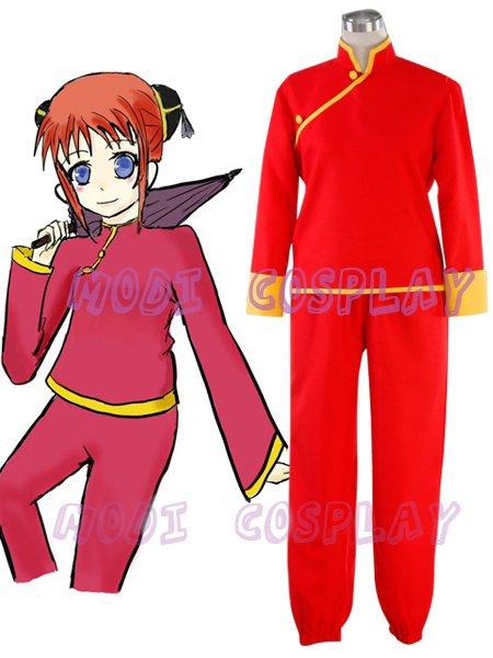 Gintama Silver Soul Kagura Cosplay Costume,all size
