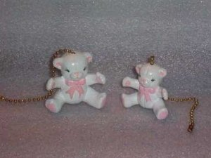 TEDDY BEARS ceiling fan pulls set of two TEDDYBEARS
