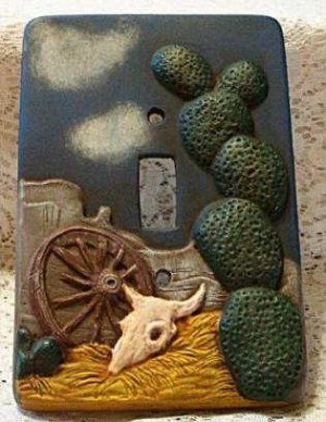 SOUTHWEST SINGLE SWITCHPLATE COVER CACTUS