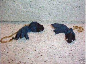 TROPICAL BETTA ceiling fan pulls set (2) new fantail fish