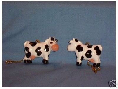 Country cows ceiling fan pulls  full 3-D design NIP (2)