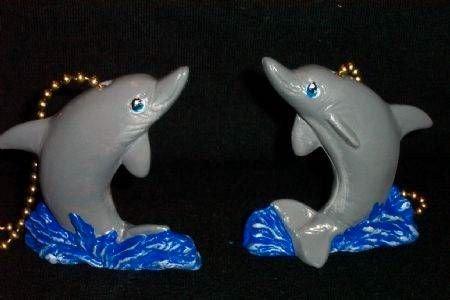 Dolphin Ceiling Fan Pulls N.I.P. (2) Full 3-D Design