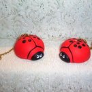 Ladybug Ceiling Fan pull  set nip (2) full 3-D design