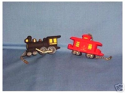 Train and Caboose ceiling fan pulls NIP (2) Full 3-D design