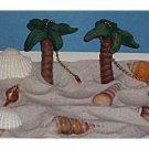 Tropical Palm Tree ceiling fan pulls NIP (2) Full 3-D design