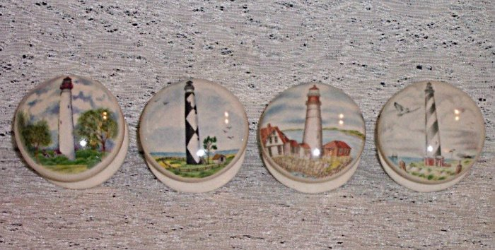 LIGHTHOUSE cabinet knobs  drawer pulls set of  4 NEW
