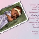 Tender Pink & Lavender Photo Baptism and Christening Invitations 5x8