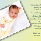 Tender Yellow & Blue Photo Baptism and Christening Invitations 5 x 8