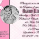 Pink Plaids/Any Color Photo Baptism and Christening Invitations 5 x 8