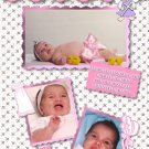 Multi Photos in Pink Photo Baptism and Christening Invitations 5 x 8