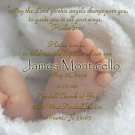 Baby Feet Two Photos Photo Baptism and Christening Invitations 5 x 8