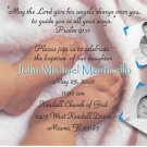 More Baby Feet for Boy Photo Baptism and Christening Invitations 5x8