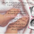 More Baby Feet for Girl Photo Baptism and Christening Invitations 5x8