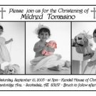 Photo Baptism and Christening Invitations 5 x 8 Three Photos in BW