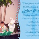 Photo Baptism and Christening Invitations 5 x 8 Cross Baby Blue