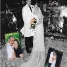 Custom Collage with Inset Photos BW Wedding Photo Thank You Card