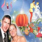 Wedding Photo Thank You Card Royal Princess Cinderella