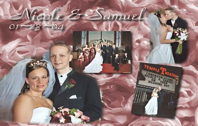 Multi-Photo Collage up to Five Photos Wedding Photo Thank You Card