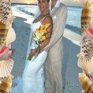 Seashells Marine One Main Photo in Color Wedding Photo Thank You Card