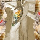 Wedding Photo Thank You Card Seashells Marine One Main Photo in Sepia