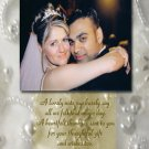 Elegant Pearls and Rhinestones Any ColorsWedding Photo Thank You Card